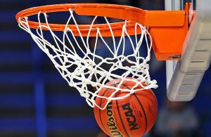 Mar 26, 2017; Lexington, KY, USA; A view of an official Wilson NCAA basketball as it goes through the net in the finals of the Lexington Regional of the women's 2017 NCAA Tournament at Rupp Arena. Stanford won 76-75. Mandatory Credit: Aaron Doster-USA TODAY Sports